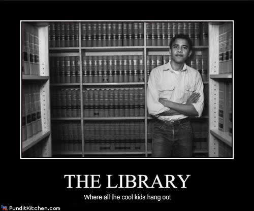 barak obama at library cool kids