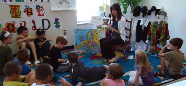 Read-aloud storytime at the Waverly branch