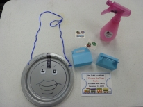 Supplies needed. And don't make fun of Thomas's voluptuous lips!