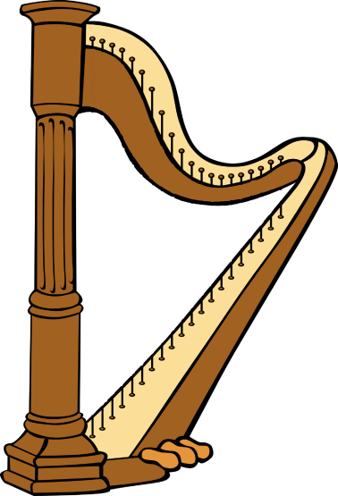 Harp used for threading with yarn