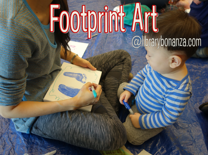 Footprint Art for babies ages 0-14 @ librarybonanza