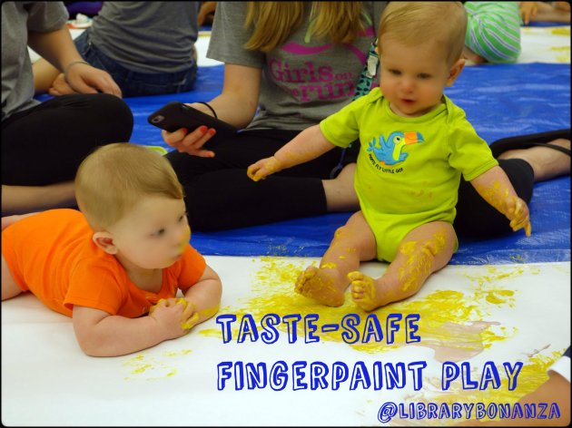Taste-Safe Fingerpaint Play